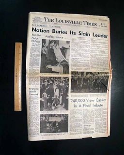 1963 Newspaper JFK John F Kennedy Assassination Funeral w Photos L H Oswald