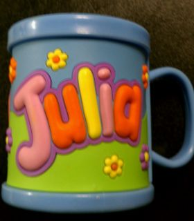 NEW John Hinde Plastic Trainers Drink Cup Mug Kids Personalized Name Julia
