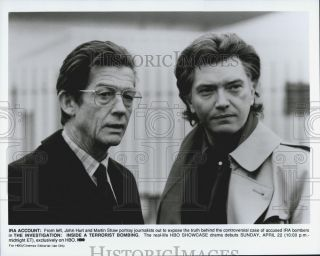 Press Photo John Hurt Martin Shaw Actors Investigation Inside A Terrorist