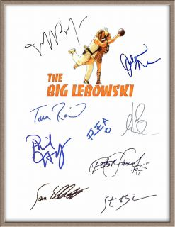 JOHN GOODMAN JULIANNE MOORE JEFF BRIDGES SIGNED X9 THE BIG LEBOWSKI SCRIPT RPT