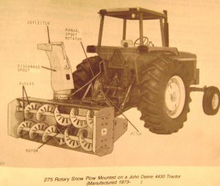 John Deere 275 Rotary Snow Plow Parts Catalog Manual