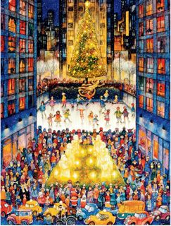 Holiday NYC Ceaco Holiday Fun 750 Piece Jigsaw Puzzle by Artist Bill Bell