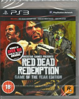 Red Dead Redemption GOTY Edition Game PS3 New SEALED