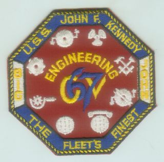 Early 1970s US Navy USS John F Kennedy CV 67 Engineering Division Patch