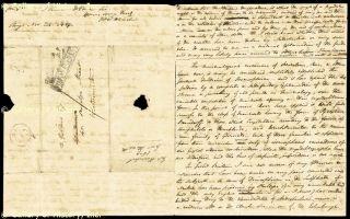 John F w Herschel Autograph Letter Signed 11 24 1829