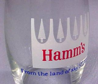 Hamm's Brewing Co St Paul MN Vintage A C L Barrel Beer Glass 1960s