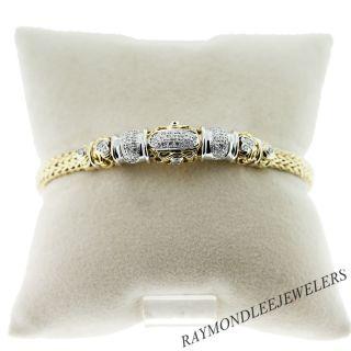 John Hardy 18k Yellow Gold and Diamond Woven Bracelet