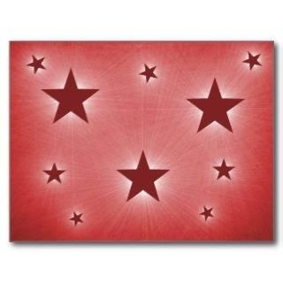 Stars in the Night Sky Postcard, Dark Red