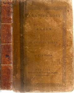 RARE 1830s Leather Paradise Lost Epic Poem by John Milton Heaven Hell Devils