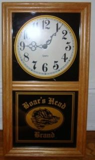 Boars Head Brand Deli Meat Advertising Logo Clock Works Promotional Ad Meats