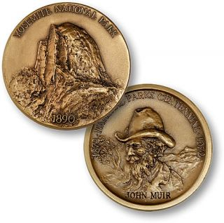 Yosemite National Park John Muir Bronze Challenge Coin