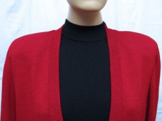 St John Knits Cassis Red Skirt Suit Size L 10 12 14