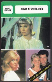 Olivia Newton John Actress French Biography Photo Card