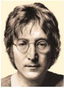 John Lennon Complete Counted Cross Stitch Kit Beatles