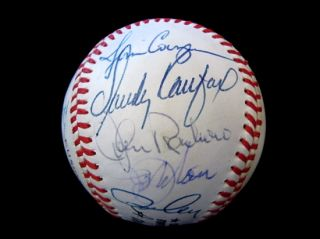 Carl Erskine's 1988 Dodgers Old Timers Day Signed Baseball w Sandy Koufax
