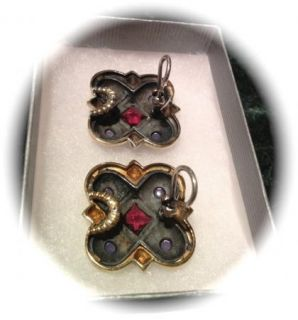 David Yurman Earrings Silver and Gold with Gemstones David Yurman Earringss