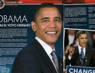 2008 La Guia Latin magazine President Barack Obama Gloria Estefan John McCain