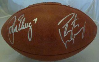 John Elway Peyton Manning Autographed Signed Official Football Denver Broncos