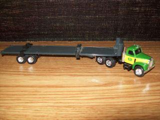 Ertl 1 64 Tractor John Deere Mack B 61 Truck Flatbed Trailer Equipment Hauler