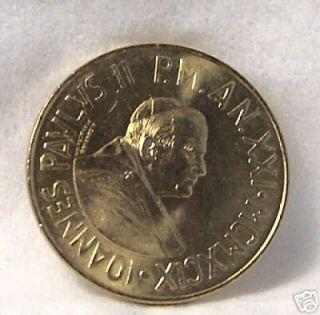 Pope John Paul II Christ Among Poor 1999 Vatican Coin