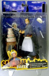 Saturday Night Live Samurai Baker Figure John Belushi Series 1 NIP 2 Swords