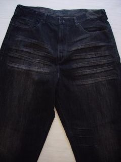 Sean John Mens Black Rocker Straight Jeans 42T $88 New