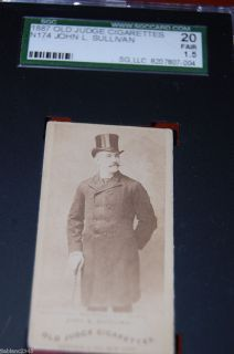 1887 N174 Old Judge John Sullivan with Top Hat Just Back from Grading |