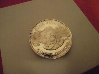 John Wayne U s Silver Coin One Troy Ounce 999 Fine Silver