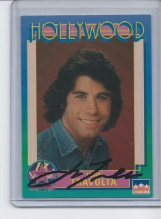 John Travolta Autographed Hollywood Walk Of Fame Card Saturday Night Fever