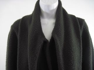 John Patrick Brown Wool Tie Front Sweater Cardigan Sz M