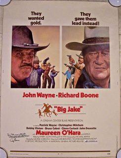 Big Jake '71 30x40 John Wayne Sons Patrick Ethan Autographed by Director |