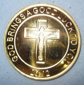Pope John Paul II Gold Coin Papal Rosary Beads Worry Prayer Messiah Psalms Bless