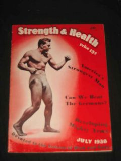 Strength and Health Magazine July 1938 John Terry