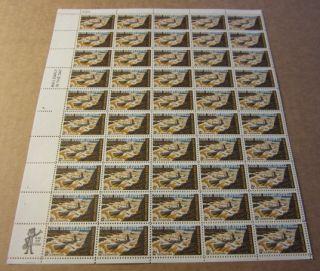 Old 1969 Full Shee 50 John Wesley Powell U s 6 Cen Samps MNH 1374 |