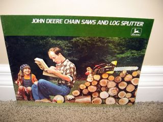 1978 John Deere Chain Saws Log Splitters Brochure A25 77 12