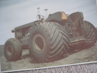 1970s Oliver or John Deere Tractor with Big Tires 8x10 Color Photo