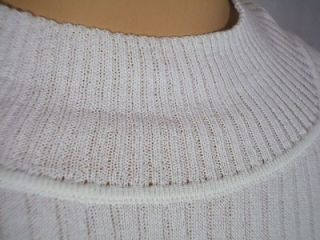 NWT ST JOHN Knits Bright White Rib Knit Sweater Top Shell Shirt sz XL 395