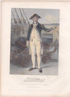 Original John Paul Jones Revolutionary War Portrait