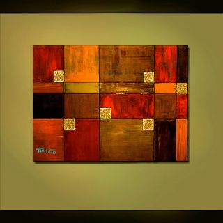 Abstract Original Painting Gold Inlay Large 30x40 Textured Fine Art Thomas John