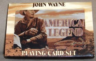 JOHN WAYNE American Legend The Duke Playing Cards in Collectible Tin