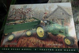 1 16 ERTL JOHN DEERE TRACTOR W WAGON FOXFIRE FARM LOWELL DAVIS W FIGURINE ED