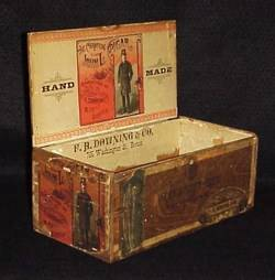 'Champion John L' Sullivan Old Cigar Box w Labels 1883 Tax Stamp NoReserve