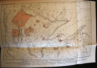 RARE 1891 BOOK Cherokees Ojibwa history North American INDIANS Color Plates