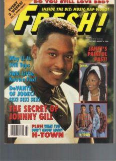 Vintage Fresh Magazine 1993 Johnny Gill Janet Jackson H Town Jodeci PINUPS R B