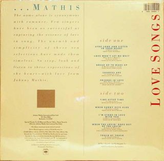 Johnny Mathis Love Songs RARE New Factory SEALED LP