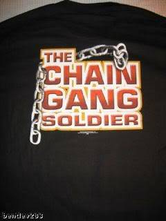 Vintage JOHN CENA The Chain Gang Soldier T shirt