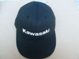 Kawasaki Testing Flexfit Hat Black Ball Cap L XL