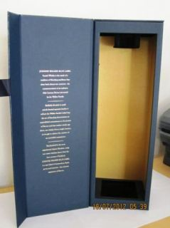 Johnnie Walker Blue Label Scotch Whisky Whiskey Empty Bottle w Box
