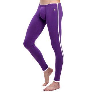 Mens Long johns Pants Thermal Low Waist Underwear Leggings Underwear Navy Blue