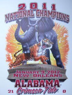 2011 NCAA National Champions Alabama Crimson Tide LSU Tigers T Shirt s M L XL |